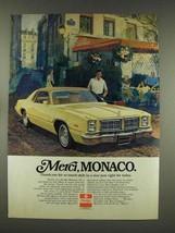 1976 Dodge Monaco Car Ad - Merci - $14.99