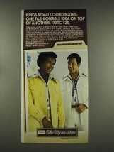 1976 Sears Kings Road Coordinates Ad - Gale Sayers - $14.99