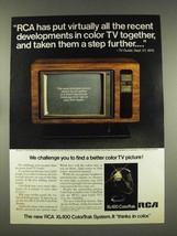 1976 RCA XL-100 ColorTrak Allison Television TV Ad - $14.99