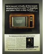 1976 RCA XL-100 ColorTrak Allison Television TV Ad - $14.99