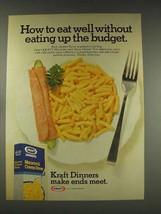 1976 Kraft Macaroni & Cheese Dinner Ad - Budget - $14.99