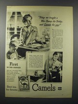 1943 WWII Camel Cigarette Ad - We Bought a War Stamp - $14.99