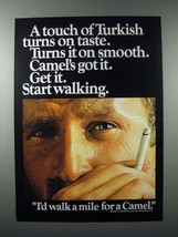 1970 Camel Cigarette Ad - Touch of Turkish - $14.99