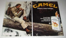 1981 Camel Lights Cigarette Ad - a Man Belongs - $14.99