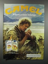 1982 Camel Lights & Filters Cigarette Ad - Man Belongs - $14.99