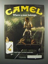 1981 Camel Lights Cigarette Ad - Where Man Belongs - $14.99