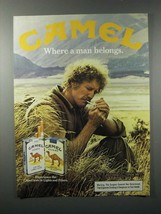 1983 Camel Lights & Filters Cigarette Ad - Man Belongs - $14.99