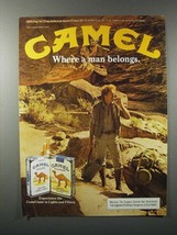 1983 Camel Lights & Filters Cigarette Ad - Where a Man Belongs - $14.99