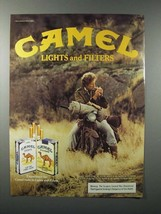 1984 Camel Lights and Filters Cigarette Ad - $14.99