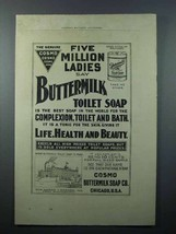 1897 Cosmo Buttermilk Soap Ad - Best for Complexion - $14.99