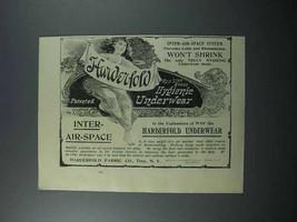1897 Harderfold Red Star Brand Hygienie Underwear Ad - $14.99