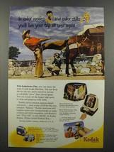 1950 Kodak Kodachrome Film Ad - Cowboy - $14.99