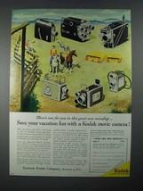 1956 Kodak Movie Camera Ad - Special II, K-100 + - $14.99