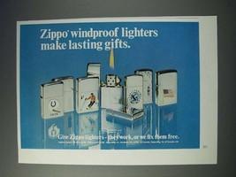 1972 Zippo Cigarette Lighter Ad - Windproof - $14.99