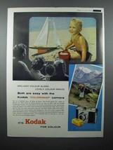 1959 Kodak Colorsnap Camera Ad - Brilliant - $14.99