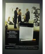 1976 Lambert & Butler Cigarette Ad - The World Of - $14.99
