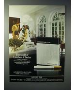 1977 Lambert & Butler Cigarette Ad - The World - $14.99