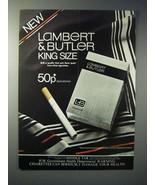 1979 Lambert & Butler King Size Cigarette Ad - $14.99