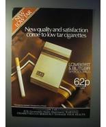 1980 Lambert & Butler Special Mild Cigarette Ad - Satisfaction - $14.99