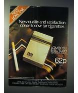 1980 Lambert & Butler Special Mild Cigarette Ad - Quality - $14.99