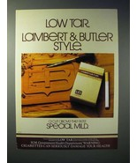 1980 Lambert & Butler Special Mild Cigarette Ad - Style - $14.99