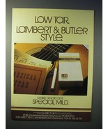 1980 Lambert & Butler Special Mild Cigarette Ad - $14.99
