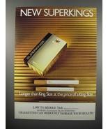 1983 John Player Superkings Cigarette Ad - $14.99