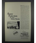 1929 American Express Travelers Cheques Ad - Protection - $14.99