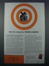 1954 Metropolitan Life Insurance Ad - Winter Ailments - $14.99