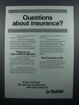 1976 Prudential Insurance Ad - Questions? - $14.99