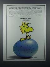 1996 MetLife Insurance Ad - Woodstock - Charles Schulz - $14.99