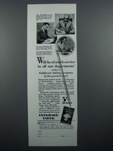 1929 Eberhard Faber Pencil Ad - Of Much Service - $14.99
