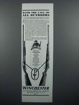 1929 Winchester Model 12 Shotgun, Model 54 Rifle Ad - $14.99