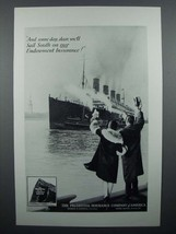1929 Prudential Insurance Ad - Sail South on Endowment - $14.99
