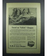 1914 ABA Travelers Cheques Ad - Travel on A.B.A. - $14.99