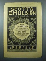 1897 Scott's Emulsion Cod Liver Oil Ad - Feed Children - $14.99