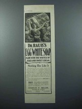 1897 Dr. Raub's Egg White Soap Ad - Whites of Eggs and Sweet Cream - $14.99