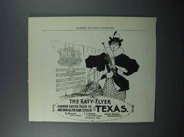 1897 MKT Railway Ad - The Katy Flyer Train, Texas - $14.99