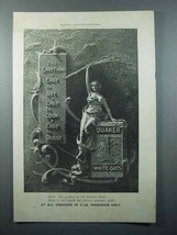 1897 Quaker White Oats Cereal Ad - The Easy Food - $14.99
