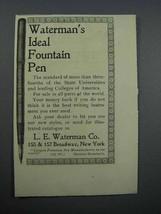 1897 Waterman's Ideal Fountain Pen Ad - $14.99