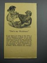 1897 Washburn Mandolin Ad - That's My Washburn! - $14.99