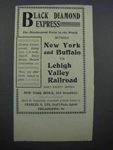 1897 Lehigh Valley Railroad Ad - Black Diamond Express - $14.99