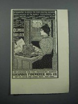 1897 Columbia Bar Lock Typewriter Ad - Most Exacting Operators - $14.99