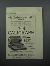 1897 Caligraph No. 4 Typewriter Ad - $14.99