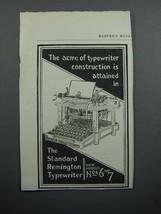 1897 Remington Standard Typewriter Ad - $14.99