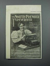 1897 Smith Premier Typewriter Ad - Happiness - $14.99