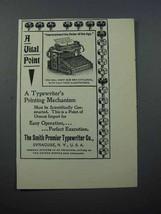 1897 Smith Premier Typewriter Ad - A Vital Point - $14.99