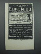 1897 Eclipse Bicycle Ad - The Strength - $14.99
