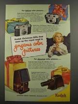 1951 Kodak Camera Ad - Signet 35, Pony 135 - $14.99