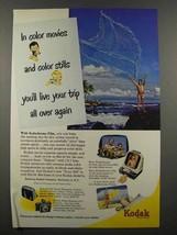 1951 Kodak Kodachrome Film Ad - Live Your Trip Again - $14.99